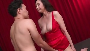 Japanese of age wants to feel the fresh inches in both holes